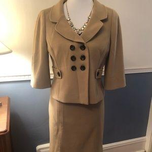 EUC - Women's Ann Taylor Loft Tan Suit size 10P